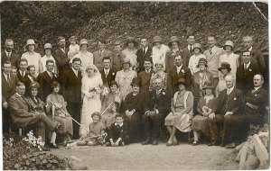 The Wedding of Ivy (Polly) Polden and Arthur Williams 1929 Polly's brothers Owen and Alban are 8th and 10th from left in middle row. Her mother Lydia is seated fifth from left.
