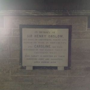 Memorial to Sir Henry Onslow in St Tudy Church