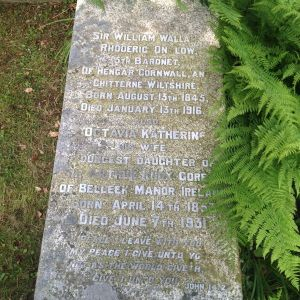 Grave of Sir William Wallace Onslow at St Tudy.