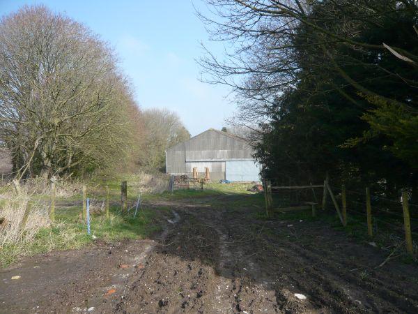 churches path approaching farm small