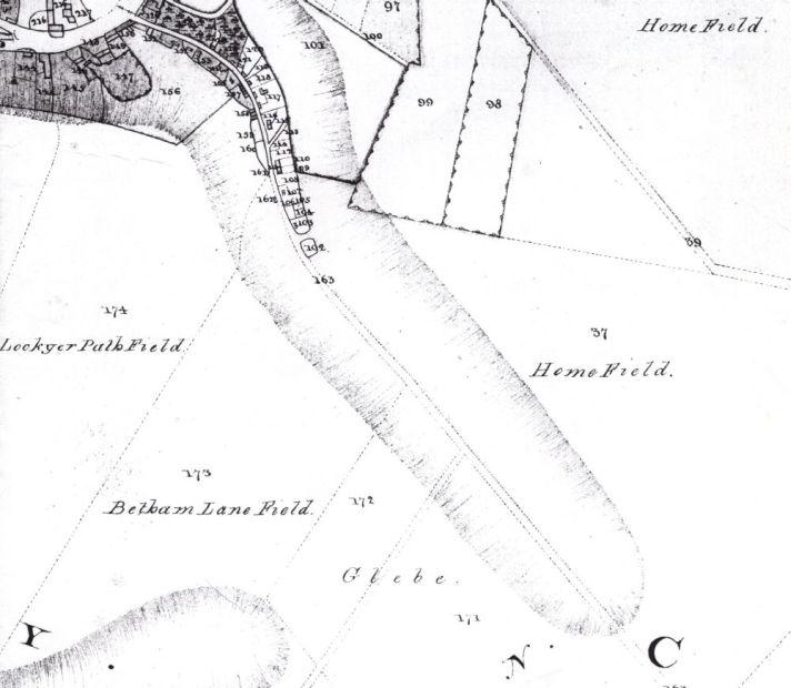 betham lane field map 1822 small