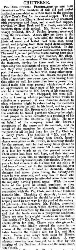 pig-club-warminster-westbury-journal-january-9-1892
