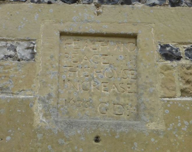 chitterne house datestone