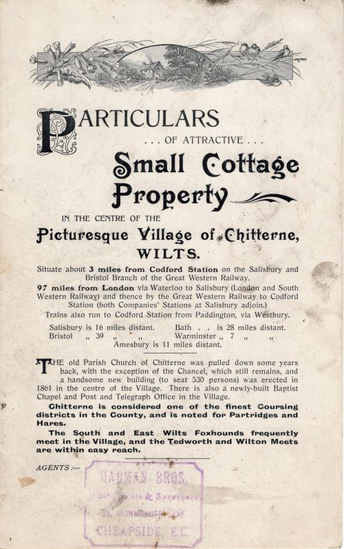 1905 Sale of Cottages cover