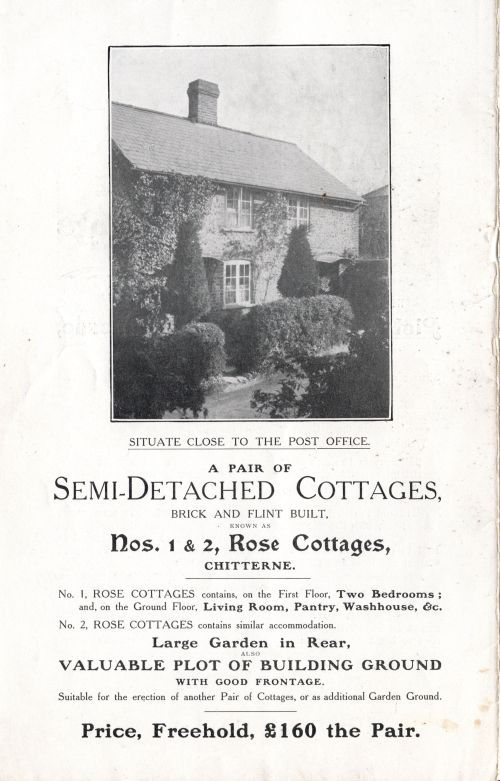 1905 Sale of Cottages Rose Cottages