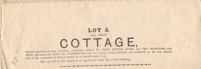 bridge cottage sale 1896