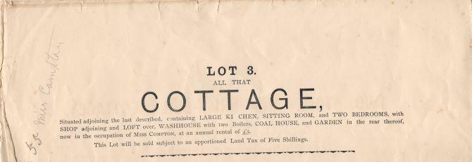 bridge cottage sale 1896