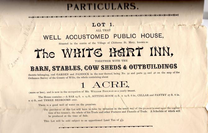 white hart inn sale 1896