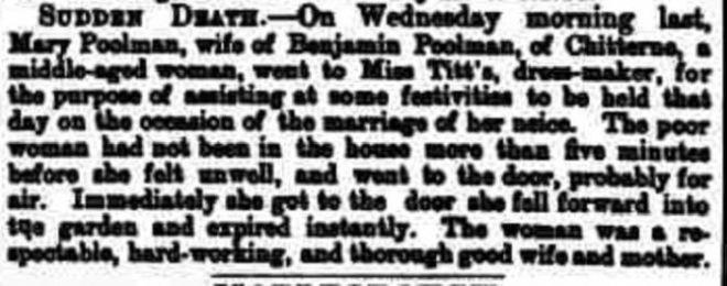 Poolman, Mary death 1875