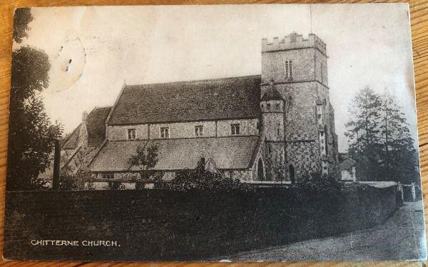 church postcard face